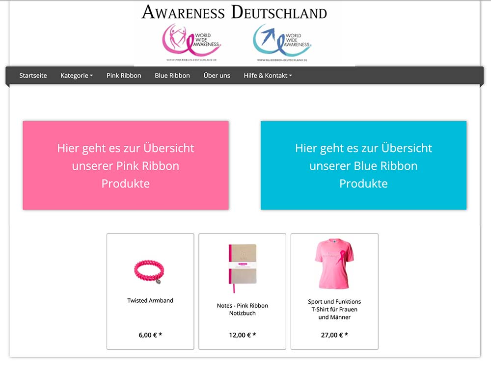 Blue Ribbon Deutschland Webshop
